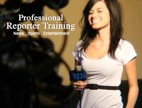 Reporter training news sports entertainment